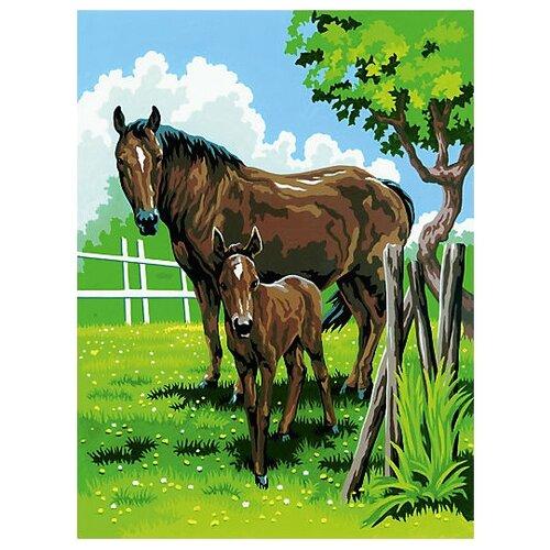 Купить Royal & Langnickel Картина по номерам Лошади 22х29 см (PJS 21), Картины по номерам и контурам
