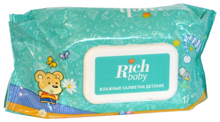 Салфетки детские влажные с витаминным комплексом, Rich Baby (120 шт)