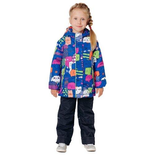 Комплект с брюками Ytro К336 котики размер 26/98, темно-синийКомплекты верхней одежды<br>