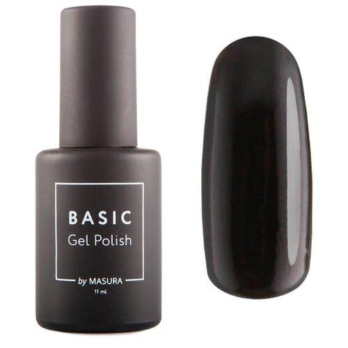 Купить Гель-лак для ногтей Masura Basic, 11 мл, Черный Кобальт