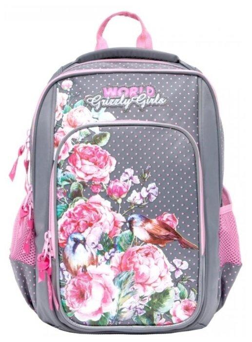 Рюкзак школьный GRIZZLY RG-866-2/2 серый