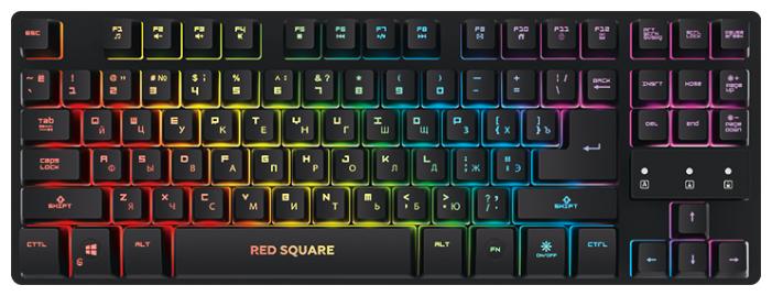 Клавиатура Red Square Tesla TKL RGB Black USB