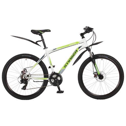 Горный (MTB) велосипед Stinger Aragon 26 (2017) белый 16 (требует финальной сборки)Велосипеды<br>