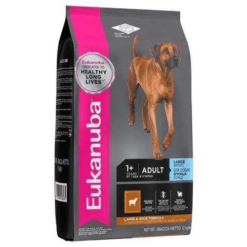 Сухой корм для собак Eukanuba ягненок, с рисом 12 кг (для крупных пород) сухой корм для собак barking heads ягненок 12 кг для крупных пород