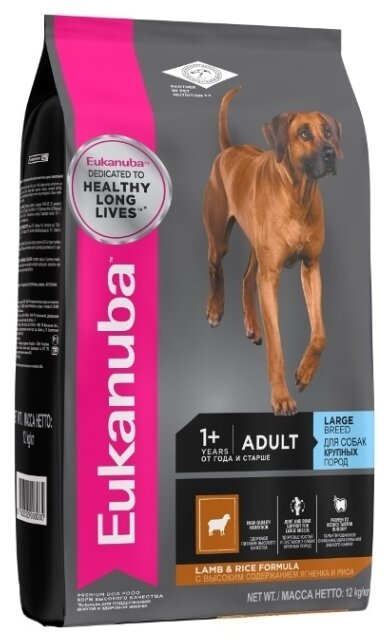 Корм для собак Eukanuba Adult Dry Dog Food For Large Breed Lamb & Rice
