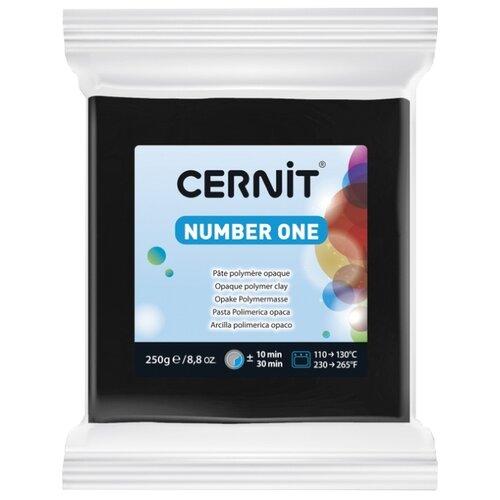 Купить Полимерная глина Cernit Number one черная (100), 250 г, Глина