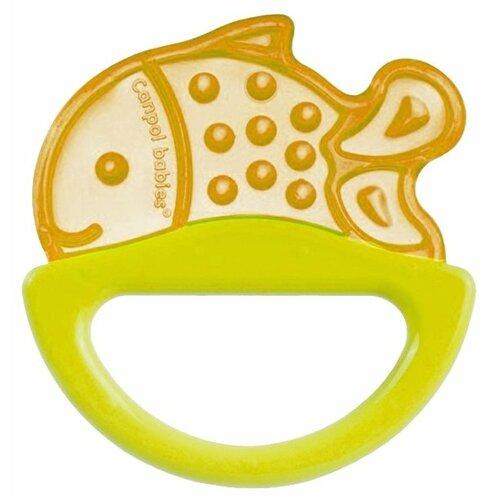 Прорезыватель-погремушка Canpol Babies Rattle with soft bite teether 13/107 желтая рыбка прорезыватель погремушка canpol babies rattle with soft bite teether 13 107 розовая рыбка
