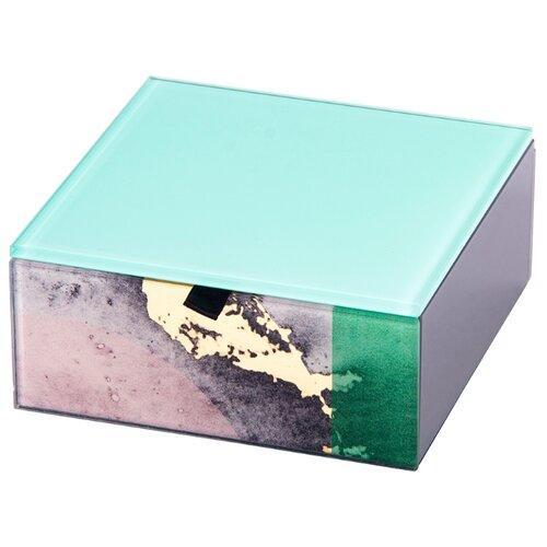 Русские подарки Шкатулка декоративная 79229 голубой