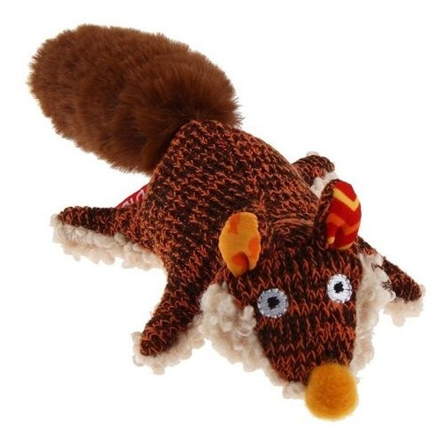 Фото - Игрушка для собак GiGwi Plush Friendz Лиса (75385) коричневый/бежевый лежак для собак и кошек gigwi snoozy friendz кот 57х57х4 см серый