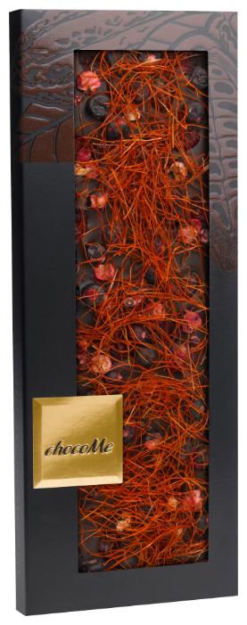 Шоколад chocoMe горький с черной смородиной, брусникой и волокнами перца чили