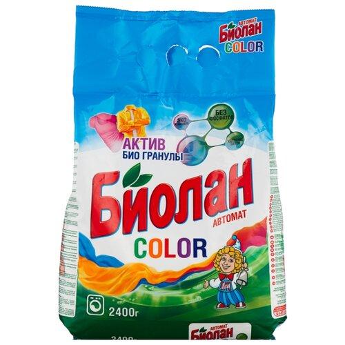 Стиральный порошок Биолан Color (автомат) 2.4 кг пластиковый пакетСтиральный порошок<br>