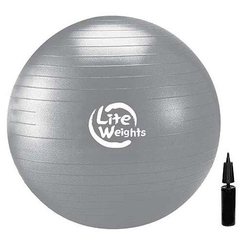 Фитбол Lite Weights 1868LW, 85 см серебро