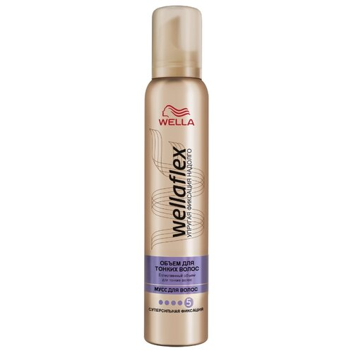 Wella мусс Wellaflex Объём для тонких волос 200 млМусс и пенка<br>