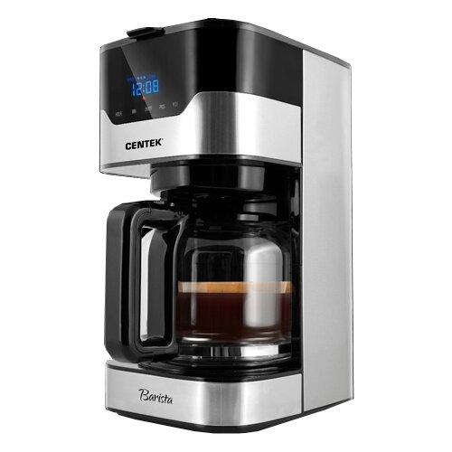 Кофеварка CENTEK CT-1145 серебристый/черный
