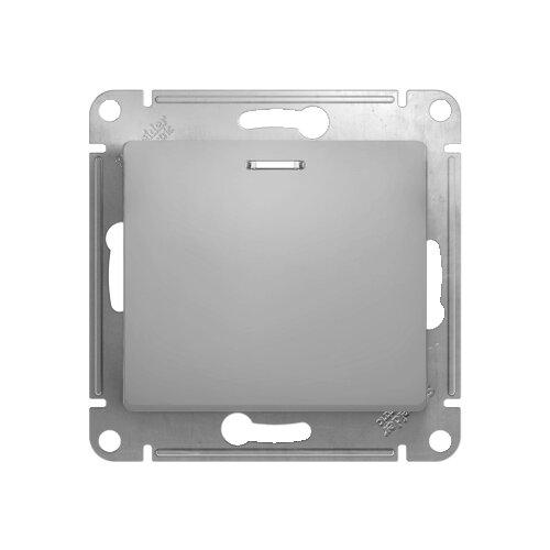 Выключатель 1-полюсный Schneider Electric GLOSSA GSL000313,10А, алюминиевый фото