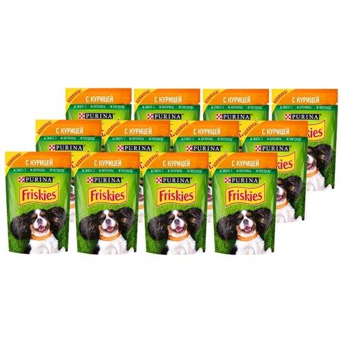 Корм для собак Friskies (0.085 кг) 24 шт. консервированный полнорационный для взрослых собак, кусочки с курицей в подливе