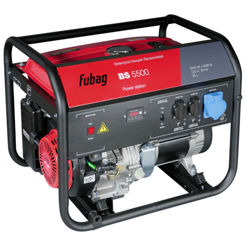 Бензиновый генератор Fubag BS 5500 (5000 Вт) бензиновый генератор fubag bs 6600 a es 6000 вт