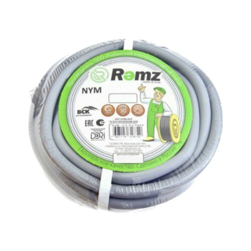 Кабель Рэмз NYM 2х2.5 (50 м) ГОСТ серыйКабели и провода<br>