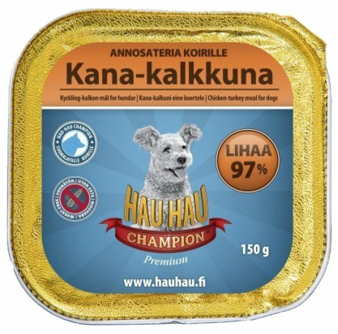"Корм для собак Hau-Hau Champion Ламистер ""Паштет из курицы с индейкой"" (0.15 кг) 1 шт."