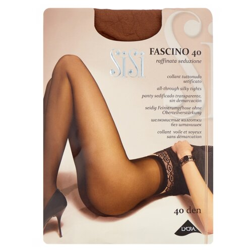 Фото - Колготки Sisi Fascino, 40 den, размер 5-MAXI XL, daino (бежевый) колготки sisi fascino 20 den размер 5 maxi xl miele бежевый