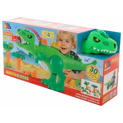 Купить Конструктор Molto Blocks 67807 Динозавр, Конструкторы