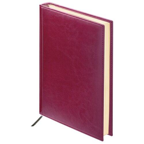 Купить Ежедневник BRAUBERG Imperial недатированный, искусственная кожа, А6, 160 листов, бордовый, Ежедневники, записные книжки