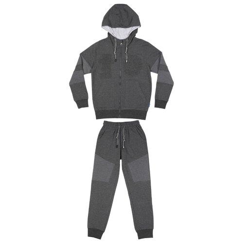 Купить Спортивный костюм Luminoso размер 146, темно-серый меланж, Спортивные костюмы
