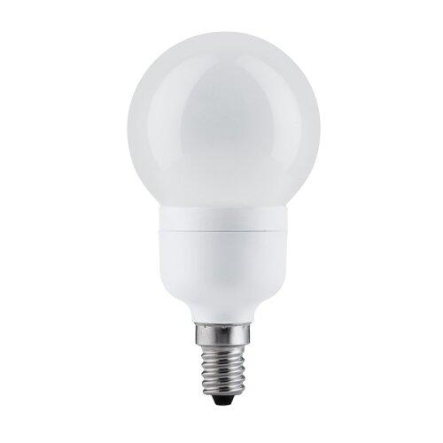 Экономная лампа Миниглобе электроник, опал, E14, 100мм 7W 89307