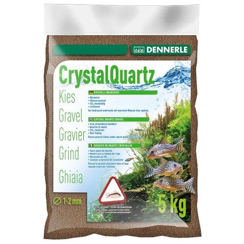 Грунт Dennerle Kristall Quarz 1-2 мм, 5 кг темно-коричневый