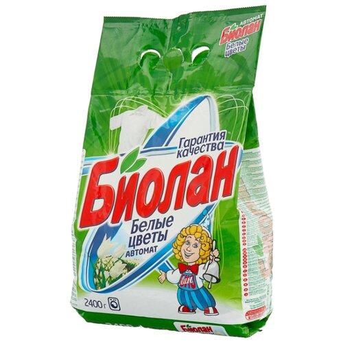 Стиральный порошок Биолан Белые цветы (автомат) 2.4 кг пластиковый пакет