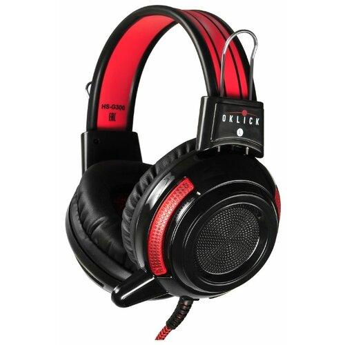 Компьютерная гарнитура OKLICK HS-G300 ARMAGEDDON черный/красный