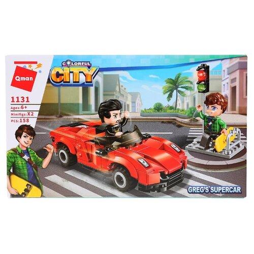 Купить Конструктор Qman City 1131 Супер автомобиль Грега, Конструкторы