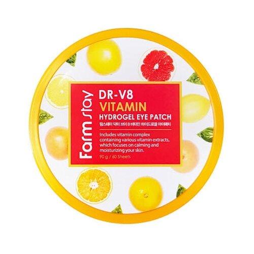Farmstay Гидрогелевые патчи для глаз DR-V8 Vitamin Hydrogel Eye Patch 90 г (60 шт.)