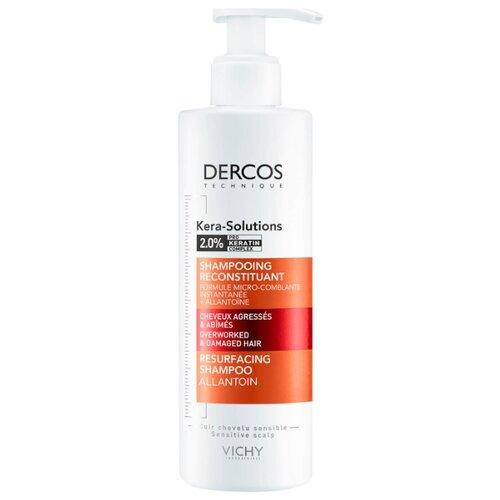 Фото - Vichy шампунь Kera-Solutions с комплексом pro-keratin, реконструирующий поверхность волоса, 250 мл vichy уплотняющий шампунь densi solutions 250 мл vichy dercos densi solutions