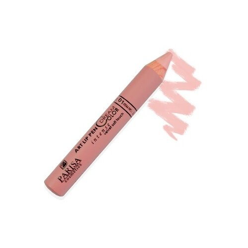 Parisa помада-карандаш для губ Dream Color L-12, оттенок №01 parisa карандаш для губ глаз дерево 422 красный шт 1 5 гр