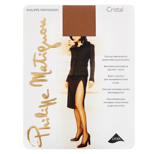 Колготки Philippe Matignon Cristal 30 den, размер 5-MAXI-XL, playa nature (бежевый) колготки philippe matignon cristal 30 den размер 5 maxi xl glace бежевый