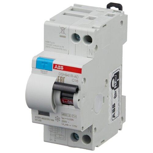 Дифференциальный автомат ABB DSH941R 2П 30 мА C 16 А автомат abb 2cds213001r0204