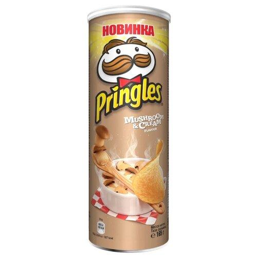 Чипсы Pringles картофельные Mushroom & Cream, 165 г