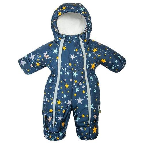 Купить Комбинезон Сонный Гномик Орион 2116 размер 74, синий с рисунком, Теплые комбинезоны