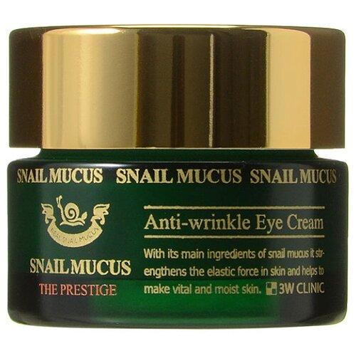 3W Clinic Крем для век с улиточным муцином Snail Mucus Anti-Wrinkle Eye Cream 30 мл сыворотка для век антивозрастной с плацентой 3w clinic premium placenta brightening day eye serum 50 мл