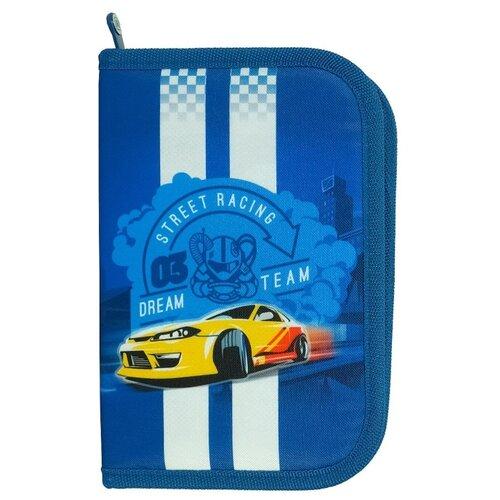 цена на Mag Taller Пенал J-Flex Racing с наполнением (27 предметов) (30216-30) синий