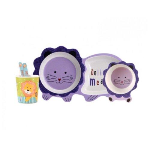 Комплект посуды Baby Ryan Котик (BF022) фиолетовый