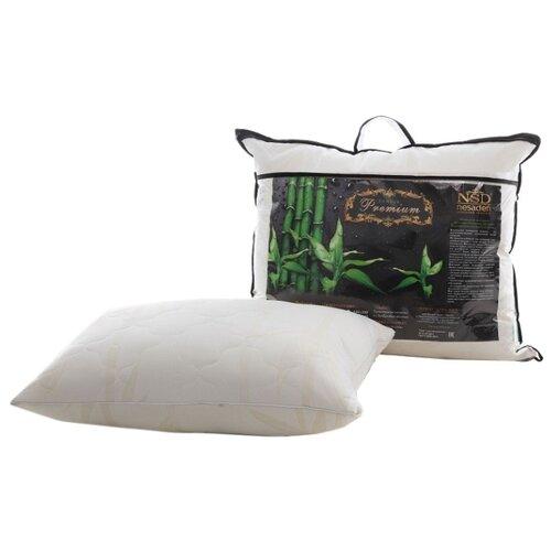Подушка НеСаДен Бамбук Premium 50 х 70 см белыйПодушки<br>