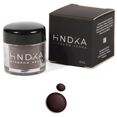 Hindika Хна для бровей и ресниц deep brown  - Купить