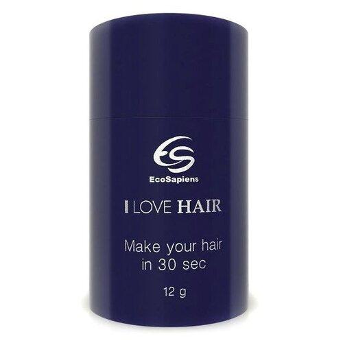 Загуститель волос EcoSapiens I Love Hair, оттенок светло-коричневый, 12 г