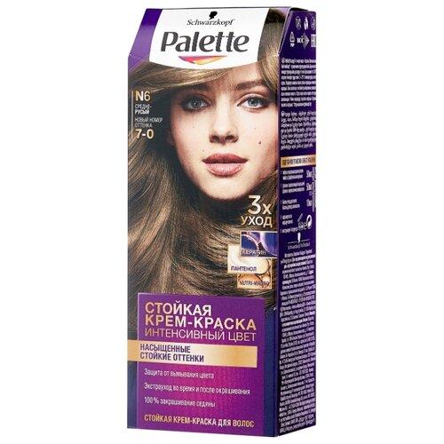 Palette Интенсивный цвет Стойкая крем-краска для волос, N6 7-0 Средне-русый недорого