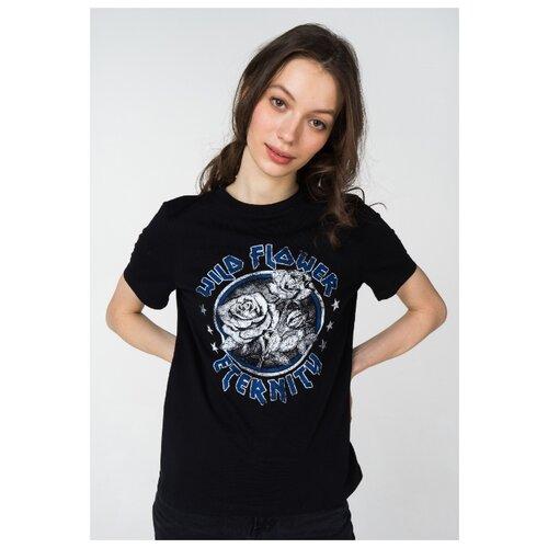 Футболка Vero Moda 10212824 размер M, черный/синий/серый футболка vero moda 10195723 размер xs серый