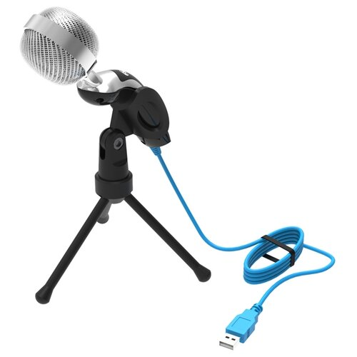 Микрофон Ritmix RDM-127, черный/серебристый