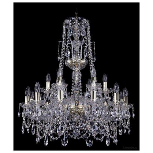 Фото - Люстра Bohemia Ivele Crystal 1411 1411/12+6/240/XL-83/G, E14, 720 Вт люстра bohemia ivele crystal 1411 1411 12 6 300 h 94 g e14 720 вт