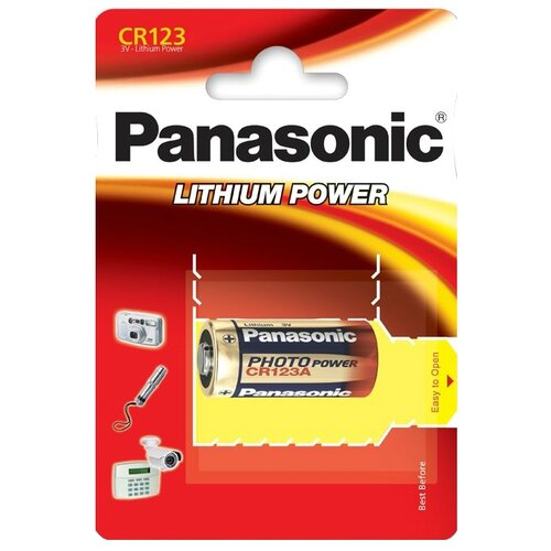 Батарейка Panasonic Lithium Power CR123 1 шт блистер